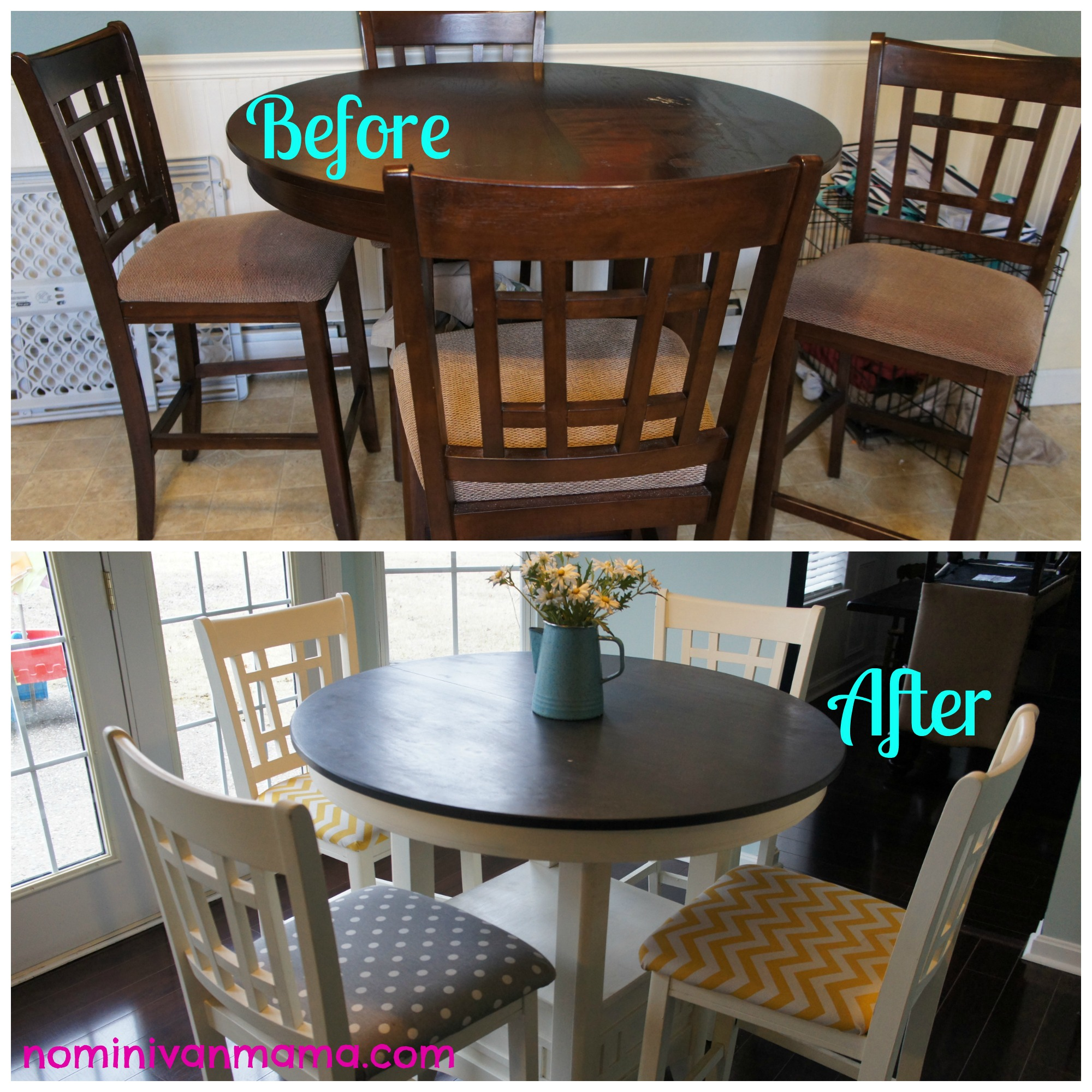 Annie sloan chalk paint kitchen table tutorial for the for Painted kitchen table ideas